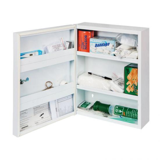 Lékárnička kovová s níplni STAVBA střední LKS