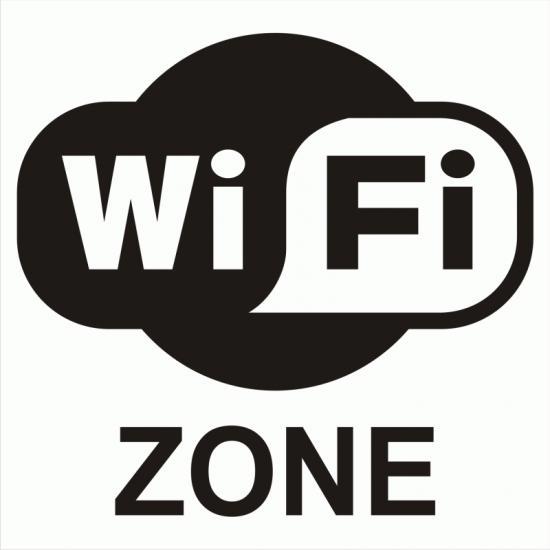 Samolepicí fólie  WIFI ZONE bez textu