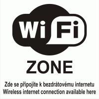 Samolepicí fólie WIFI ZONE s textem
