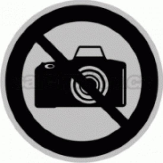 Piktogram samolepicí fólie - Zákaz focení - stříbrná materiál