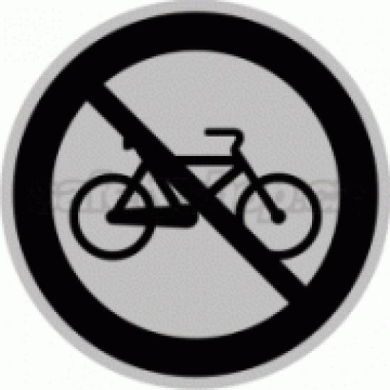Piktogram samolepicí fólie - Zákaz kolo - stříbrná materiál