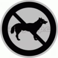 Piktogram samolepicí fólie - Zákaz psi - stříbrná materiál