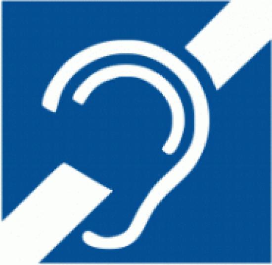 Samolepicí fólie - Symbol zařízení nebo prostoru pro osoby se sluchovým postižením