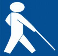 Samolepicí fólie - Symbol zařízení nebo prostoru pro osoby se zrakovým postižením