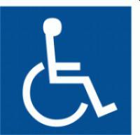 Samolepicí fólie - Symbol zařízení nebo prostorupro osoby na vozíku