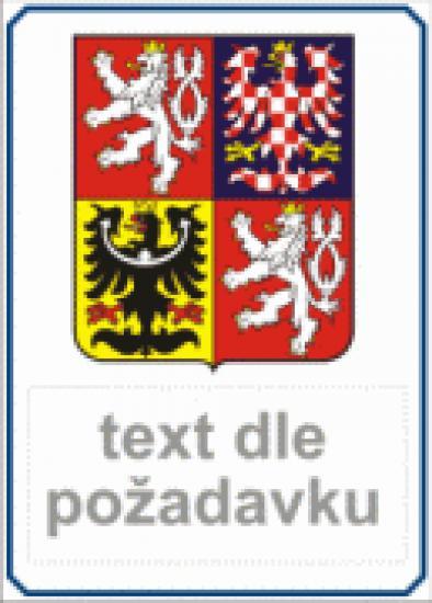 Státní znak ČR + vlastní text