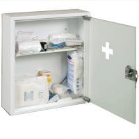 Kovová lékárnička s mléčným sklem s náplní STANDARD