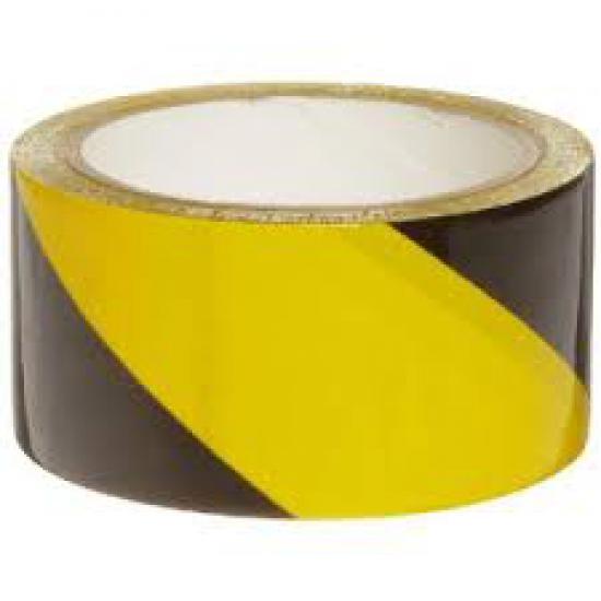 Páska samolepicí výstražná žluto/černá PRAVÁ -PVC - délka 33mx60mm