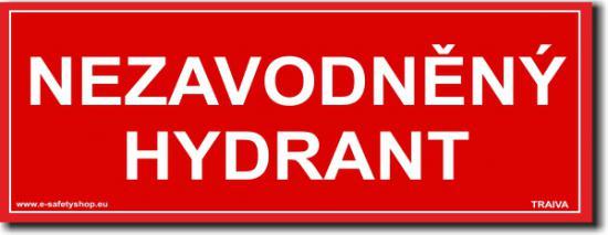 Nezavodněný hydrant - Samolepka