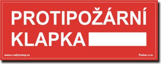 Protipožární klapka - Samolepka
