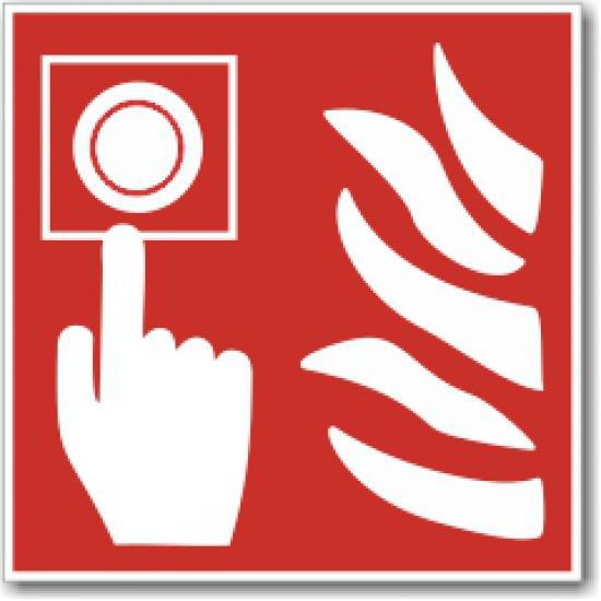 Hlásič požáru (150 x 150 mm) - Samolepka