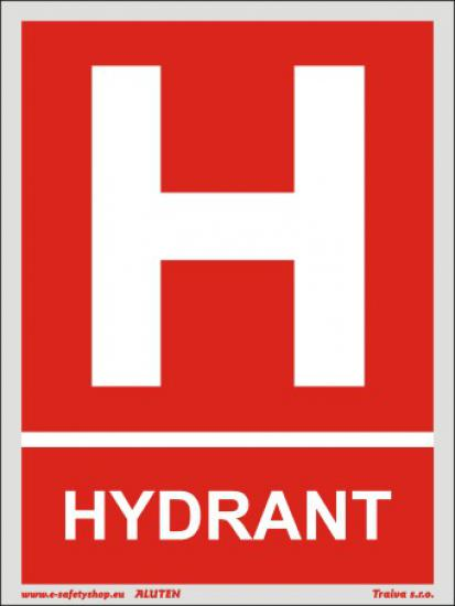 Hydrant s textem - Plast