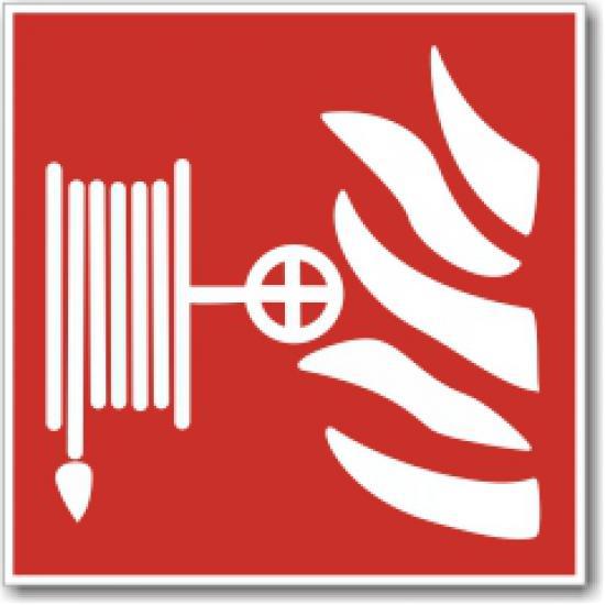 Požární hadice (150 x 150 mm) - Samolepka
