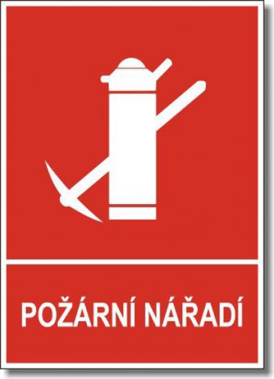 Požární nářadí s textem - Samolepka