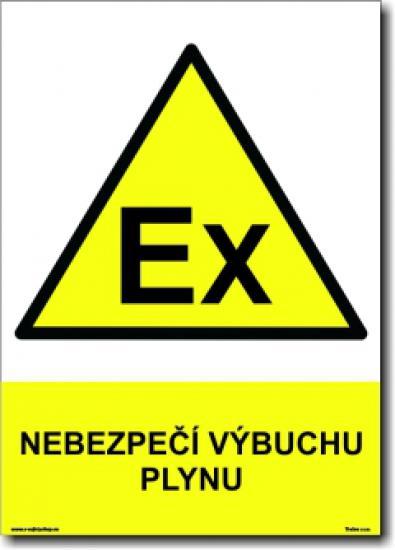 Nebezpečí výbuchu plynu - Samolepka