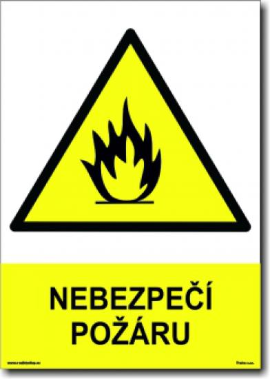 Nebezpečí požáru (A4) - Plast
