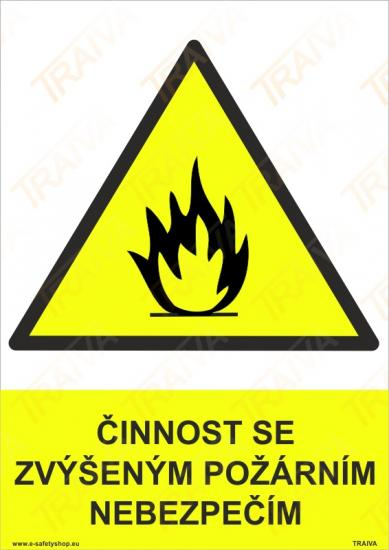 Činnost se zvýšeným požárním nebezpečím - Plast