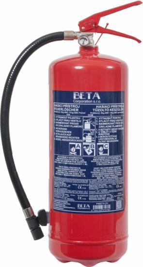 Práškový hasící přístroj 6kg - (43A/233B/C)