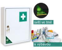 Lékárnička závěsná plechová s výbavou pro sklady