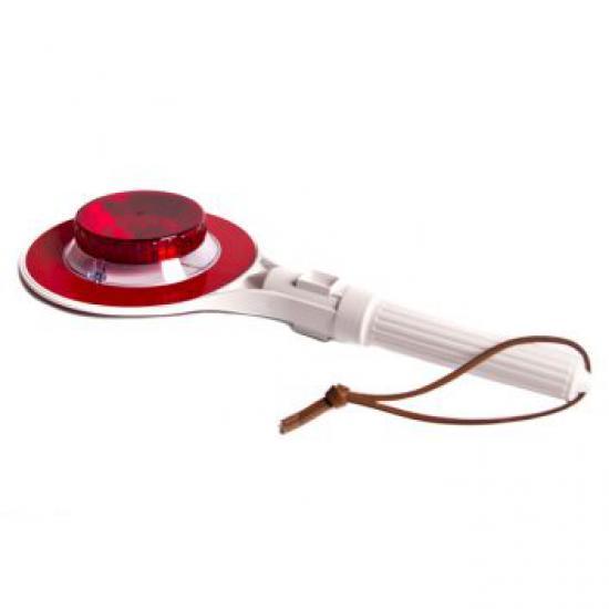 Zastavovací terč svítící LED žárovka  červená