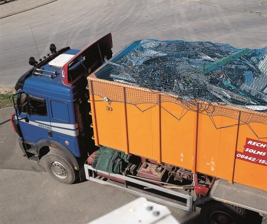 Krycí síť na kontejner 3,5 x 8 m