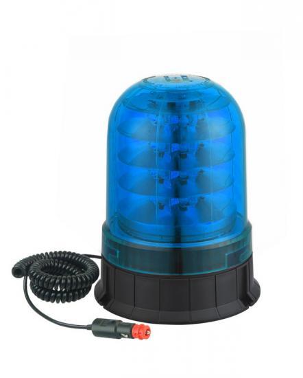 LED maják modrý 12/24V