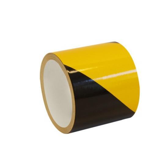 Samolepící páska - reflexní žluto/černá 10cm  P
