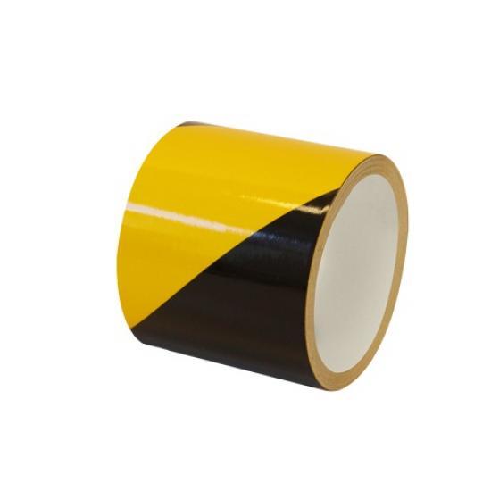 Samolepící páska - reflexní žluto/černá 10cm L