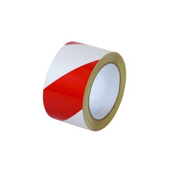 Samolepící páska - reflexní červeno/bílá 5cm L