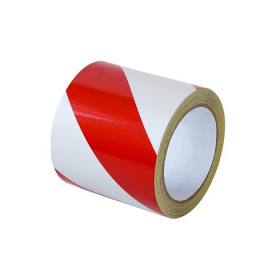 Samolepící páska - reflexní červeno/bílá 10cm P