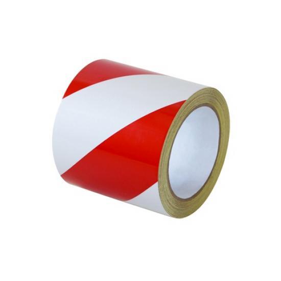 Samolepící páska - reflexní červeno/bílá 10cm L