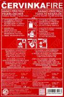 Typový štítek na hasicí přístroje