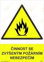 Činnost se zvýšeným požárním nebezpečím - Samolepka