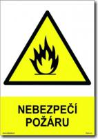 Nebezpečí požáru (A4) - Samolepka