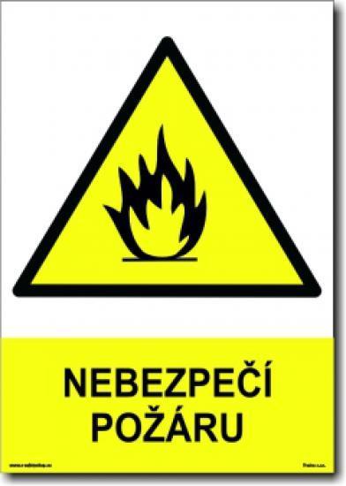 Nebezpečí požáru (A5) - Samolepka