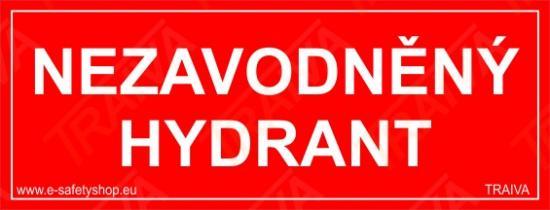 Nezavodněný hydrant - Plast