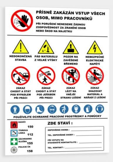 Bezpečnostní  banner-STAVBA