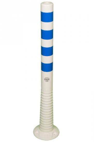 Flexibilní sloupek vymezovací bílo-modrý (1000 mm)