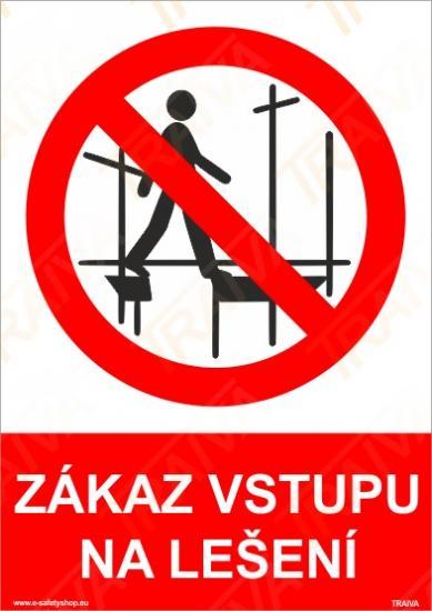 Zákaz vstupu na lešení - Plast