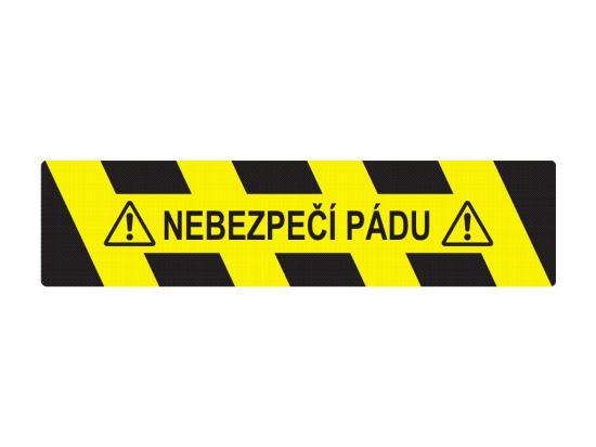 Podlahová samolepka - Nebezpečí pádu