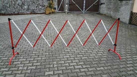 Ocelová skládací zábrana - bez reflexní pásky 4 m