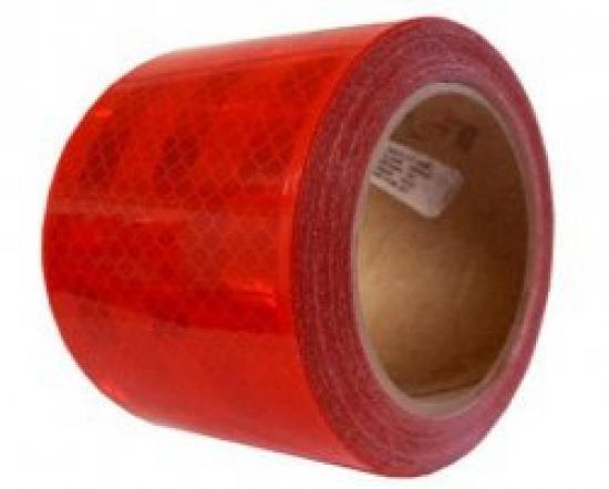 Reflexní páska ČERVENÁ pro pevný povrch