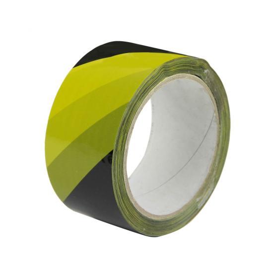 Samolepicí páska žluto/černá PP pravá 48mm