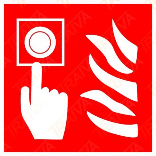 Požární hlásič - Samolepka/Plast