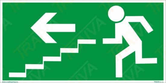 Únikové schodiště (vlevo dolů) - Plast/Samolepka