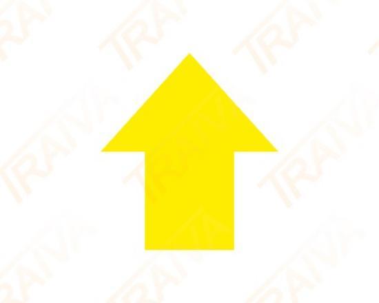 Podlahové značení pro místa na palety- ŠIPKA