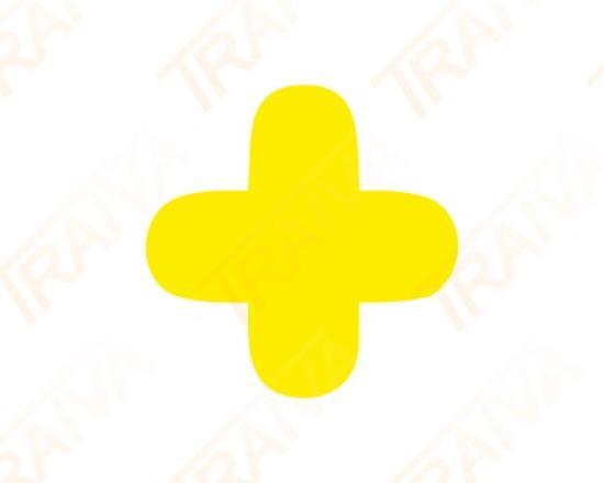 Podlahové značení pro místa na palety - tvar KŘÍŽ