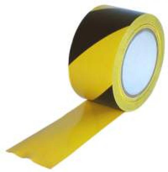 Samolepicí páska žluto/černá PVC levá 60mm