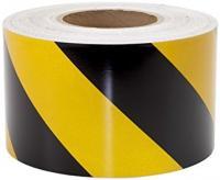 Samolepicí páska žluto/černá PVC levá 100mm