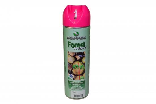 Lesnický značkovací sprej Forest Marker Soppec růžový 500ml